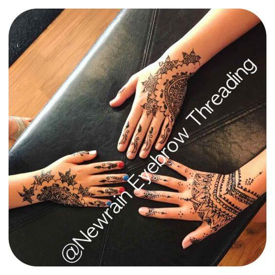 Henna Tattoo at Newrain Eyebrow Threading