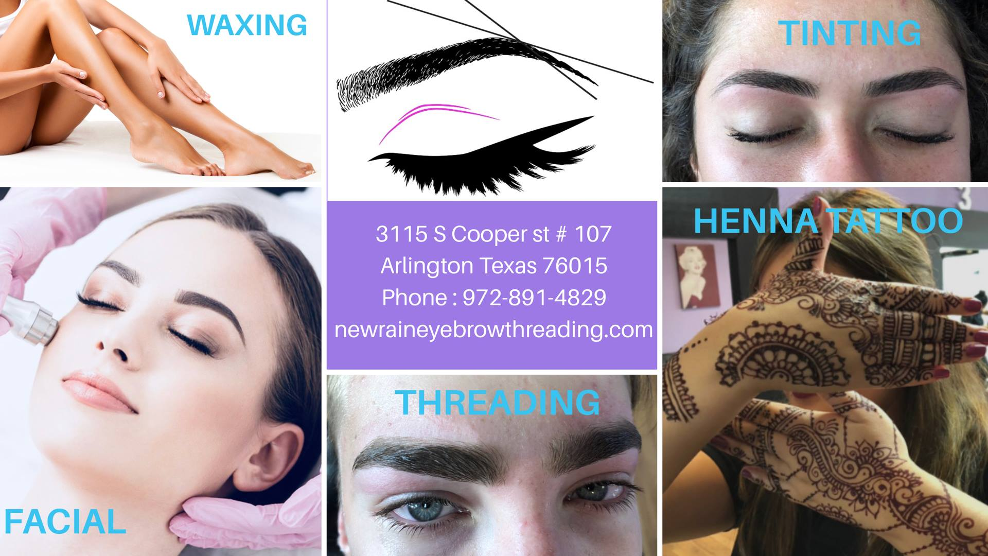 #1 Newrain Eyebrow Threading in Arlington TX - (817) 376-9780